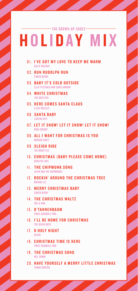 heres a holiday mix for those parties coming up at the end of this year - Classic Christmas Songs List