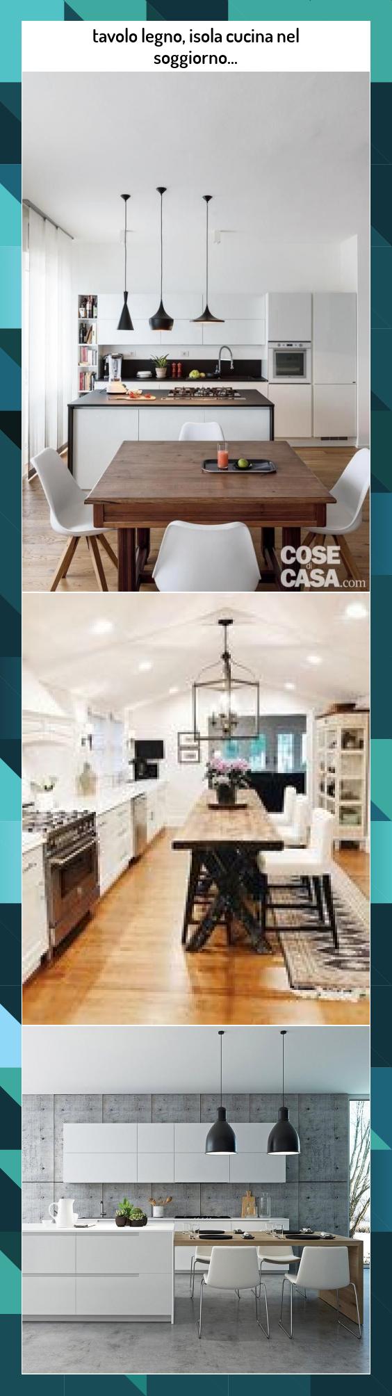Photo of tavolo legno, isola cucina nel soggiorno… #tavolo #legno, #isola #cucina #nel