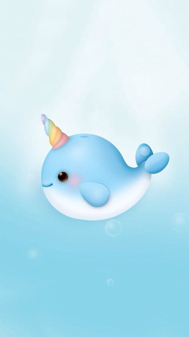 Narwhal wallpaper wallpaper background in 2019 cute - Cute narwhal wallpaper ...