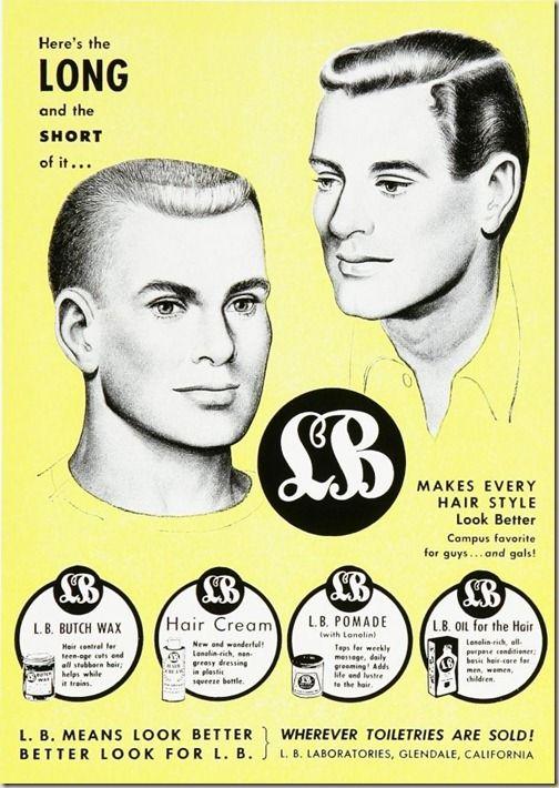 Butch Wax Pomade Haircut Ideas Pinterest Vintage Outfits Hair