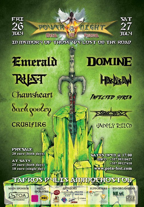 Power Of The Night Metal Festival VIII 2013