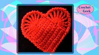 crochet hearts coasters - YouTube
