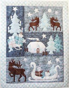 """Christmas DIY: Unser neuer Quilt """"W Unser neuer Quilt """"Wintertales"""" erzählt eine romantische Winterstimmung und #christmasdiy #christmas #diy"""