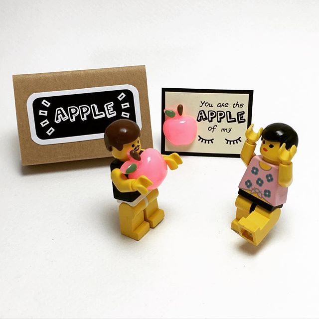 Fri-yay, you're my love, the apple of my eye!  What is your favorite day of the week? Spread the love, TGIF!  #fridayisthebest #friyay #tgif #friday #mylove #apple #appleofmyeye #myfavorite #love #spreadthelove #miniature #minifigures #ff #l4l #lego #legolife #matchboxart #matchboxcard #craftsposure #makersvillage #etsyscout #paper #papercraft #handmade #etsy #canyi