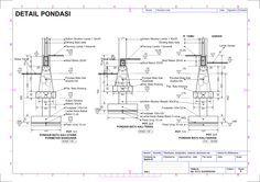 Gambar Kerja Pondasi 5 Detail Pondasi Arsitektur Desain Gambar