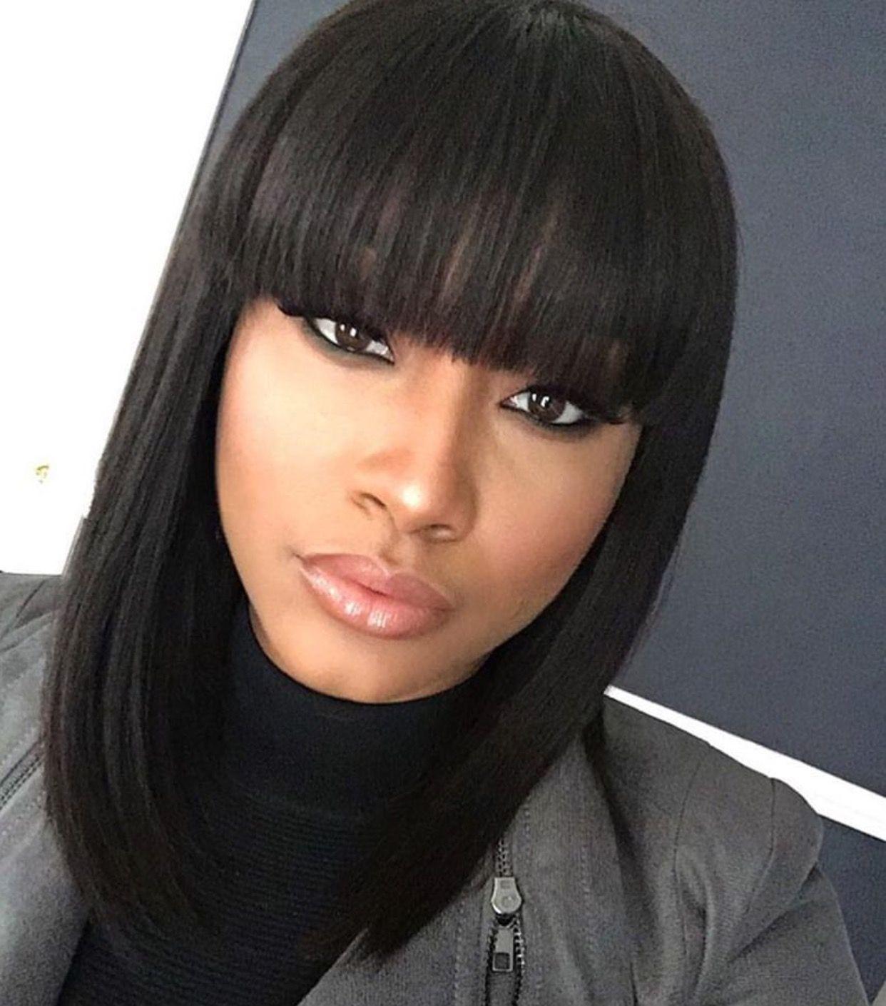 Bangs #Bob #BobLife | Natural hair styles, Wigs with bangs ...