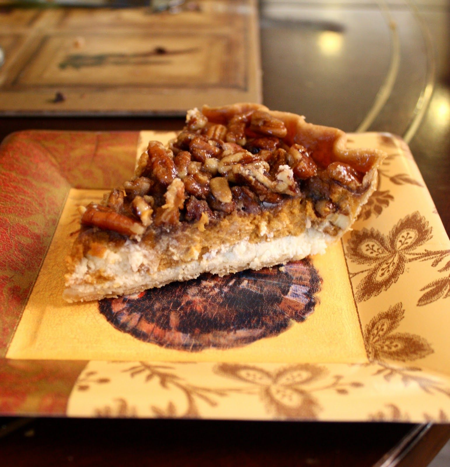 Chocolate Therapy: Cheesecake Pumpkin Pecan Pie - cannot wait for Thanksgiving to try this!