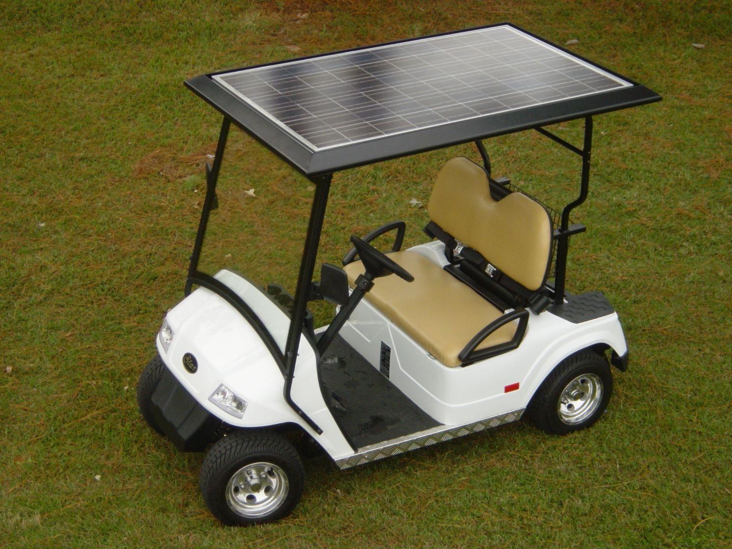 Solar Panel Golf Cart