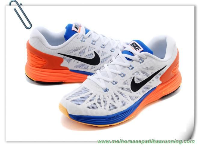 low priced 0807e 81107 Masculino Nike LunarGlide 6 Branco Preto-hiper Carmesim-Hyper Cobalt  654433-101