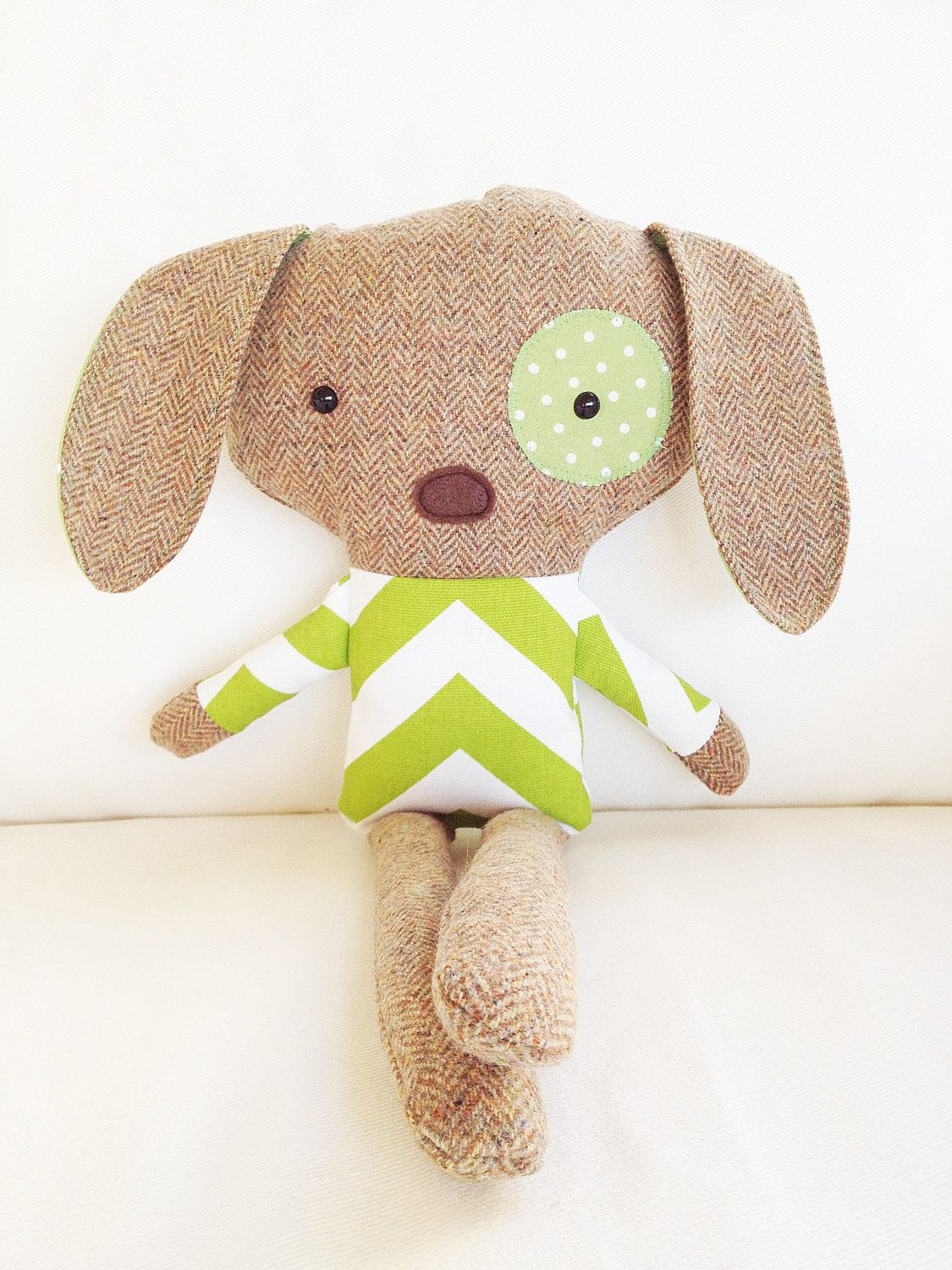 Sew A Cute Puppy Pillow Softie : Dog softie pattern. By using different fabric for body and arms it looks like he s wearing a ...