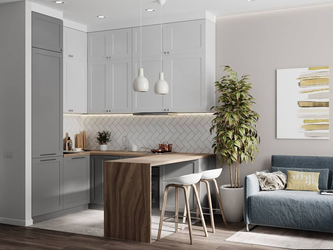 дизайн кухни гостиной 15 квм фото 6