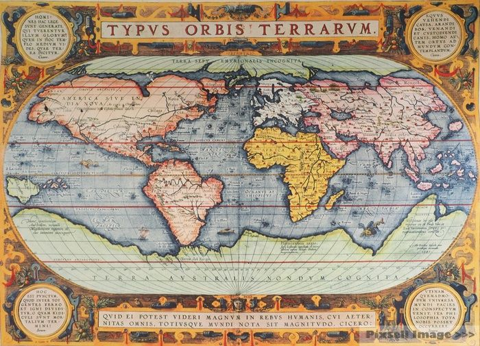 15th Century World Map Antique World Map | Antique world map, Antique maps, Vintage maps