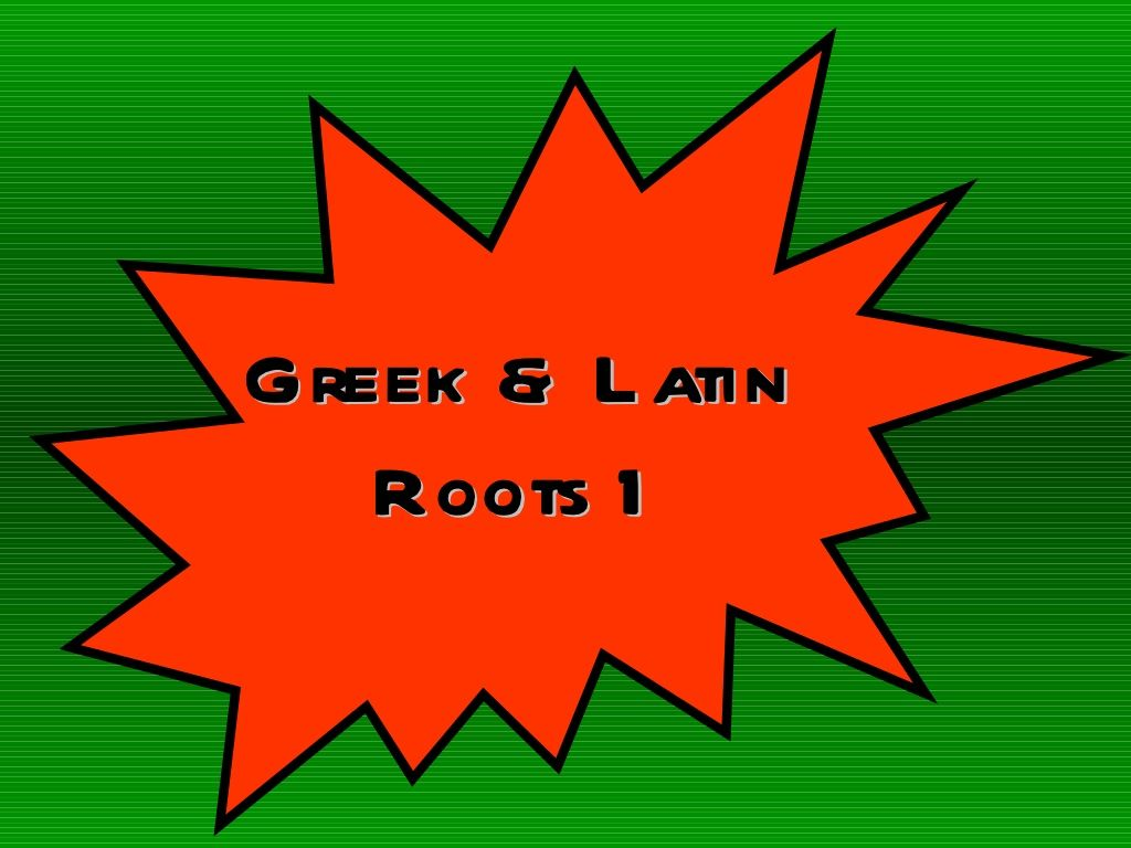 Looks Like A Great Set Of Lessons For Greek And Latin Root