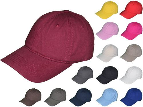 10e08a3687d52 Blank Dad Hats - Unisex Cotton Polo Unstructured Low Profile Baseball Caps  With Buckle Back Closure (15 Colors) - 5223