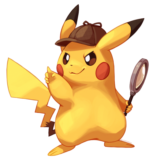 Detective Pikachu Splatterparrot On Tumblr Pikachu Art Pikachu Cute Pokemon Wallpaper