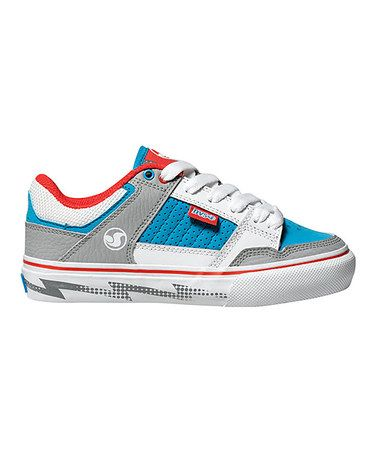 Take a look at this Blue & White Ignition CT Sneaker - Kids by DVS Shoe Company on #zulily today!