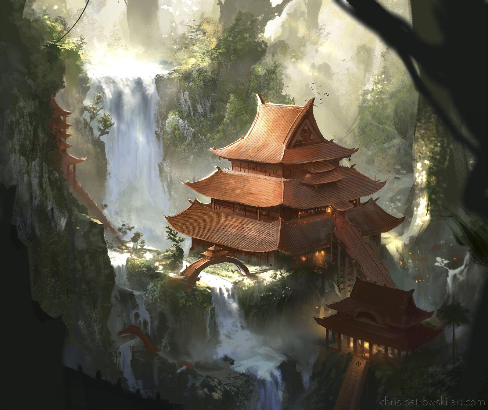 Eternal Temple, Chris Ostrowski on ArtStation at https://www.artstation.com/artwork/3doDB