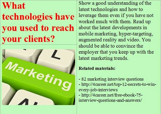 17 Best images about Online marketing interview questions on - marketing interview questions