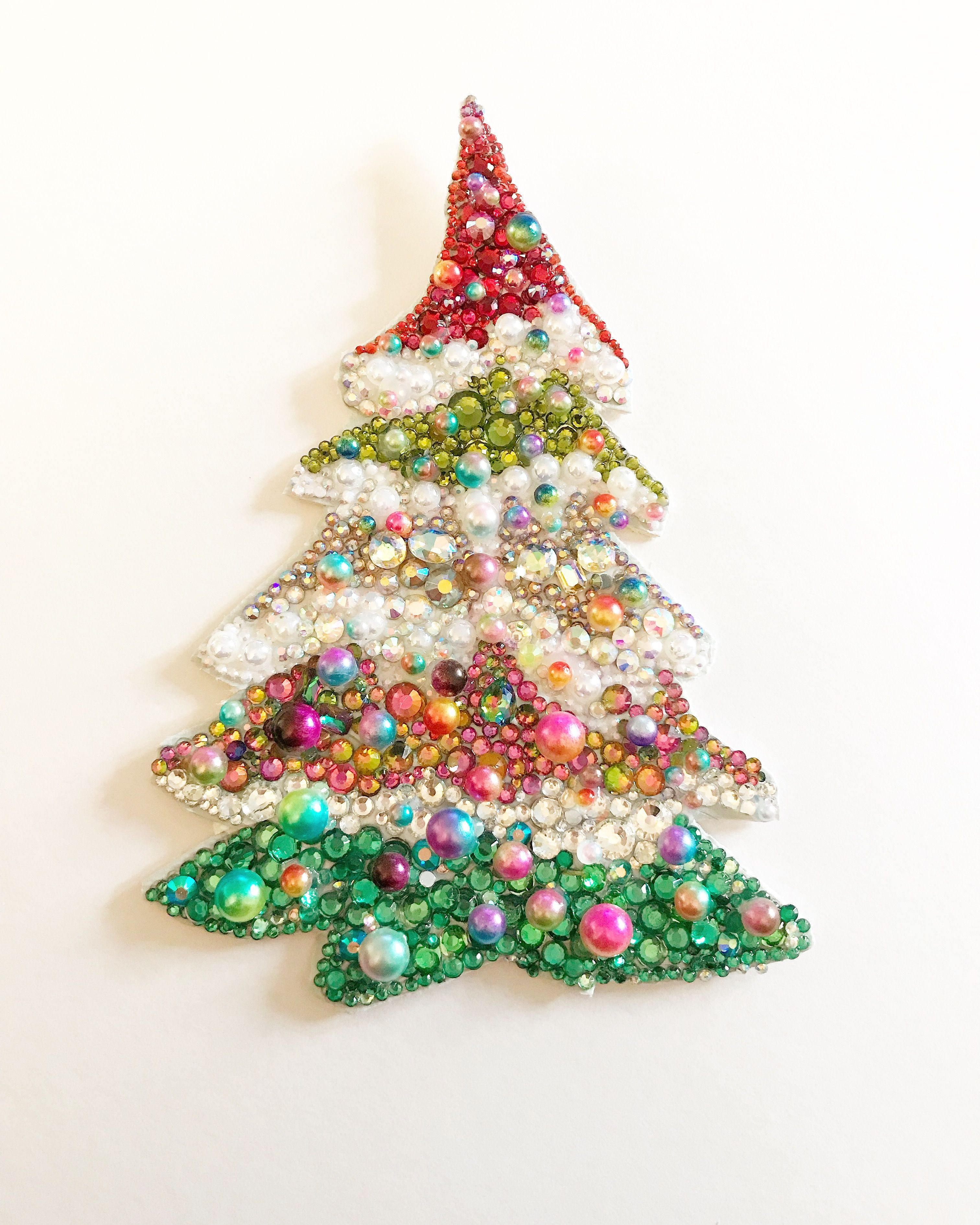 Sparkly Button Art Christmas Tree To Order Please See Always Sparkle Gifts On Etsy Or Facebook Button Crafts Christmas Crafts Jeweled Christmas Trees