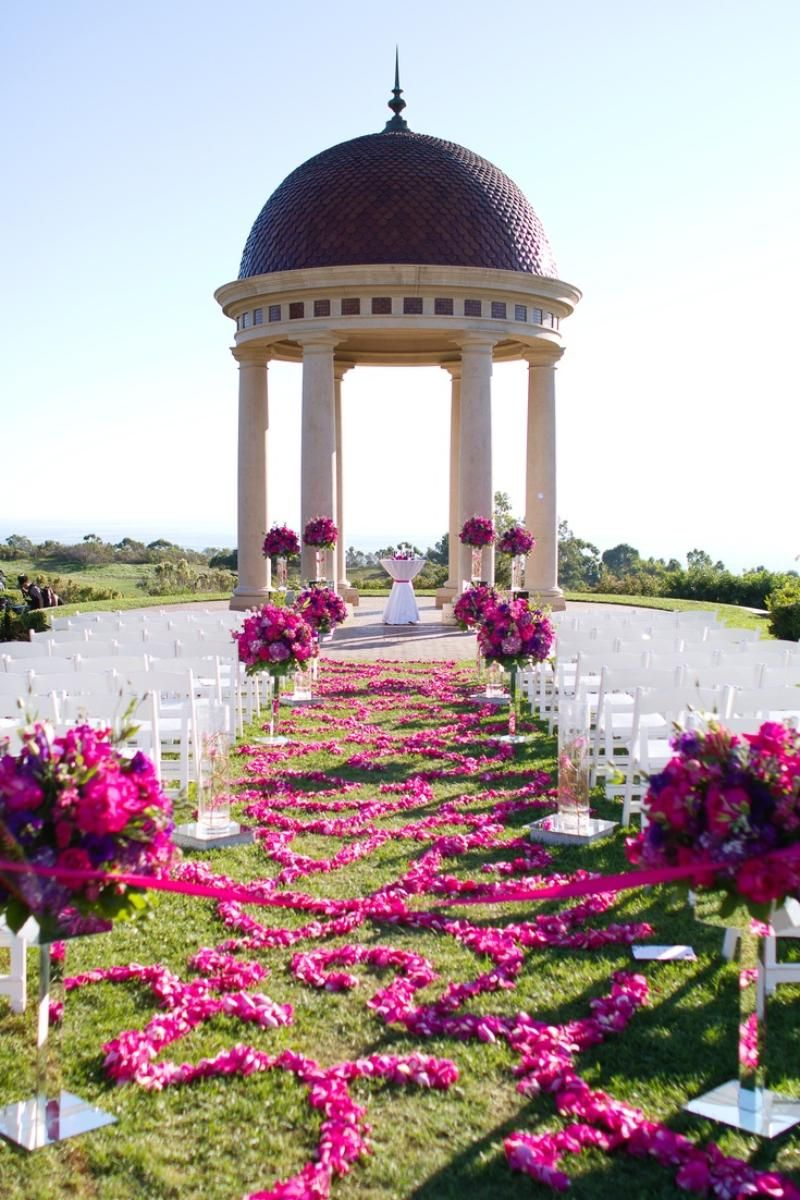 Garden wedding aisle decor  The Resort at Pelican Hill  enchanted forest  Pinterest  Resorts