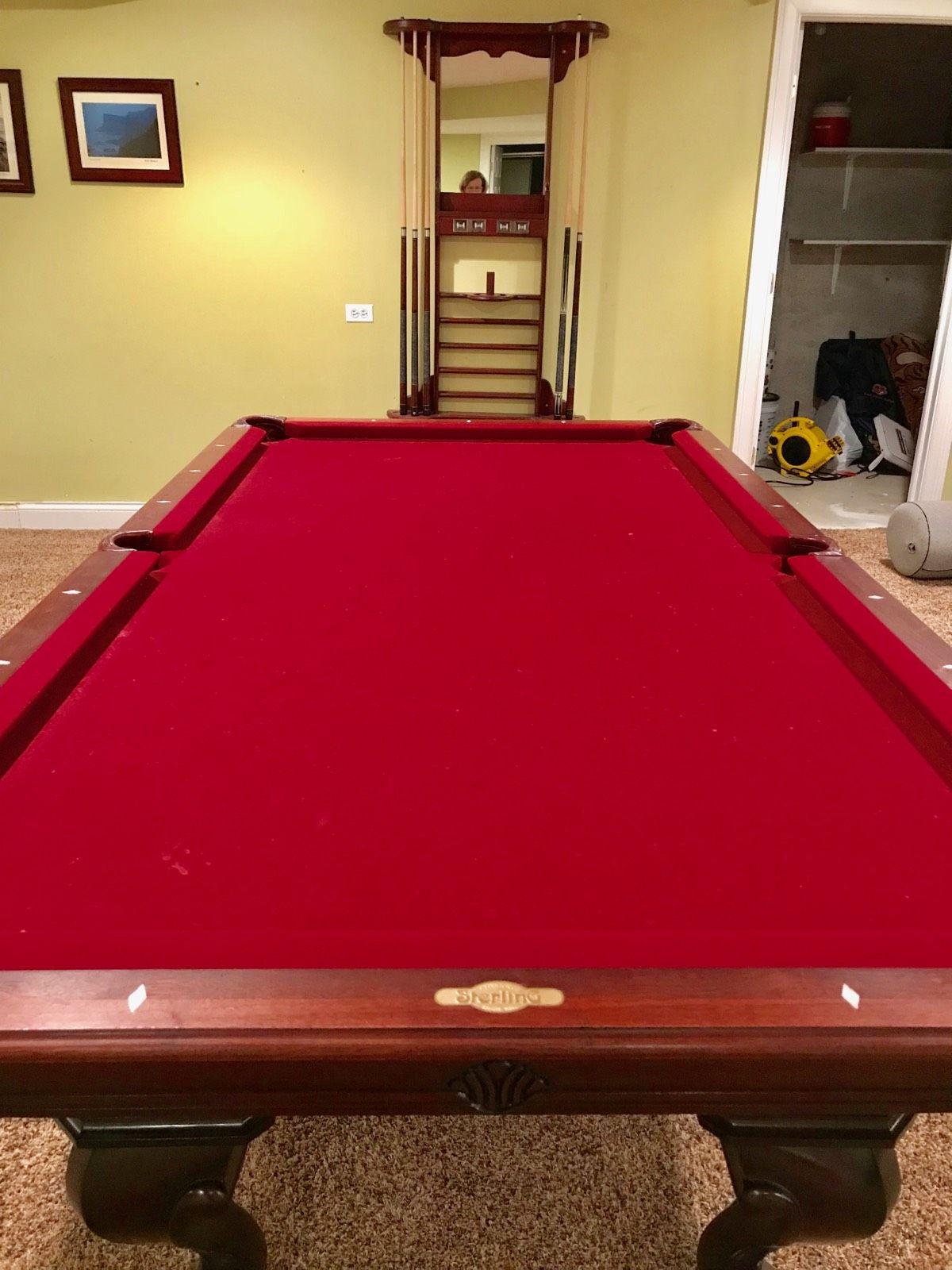8 Vitallie Sterling Billiards Solid Wood Billiard Pool
