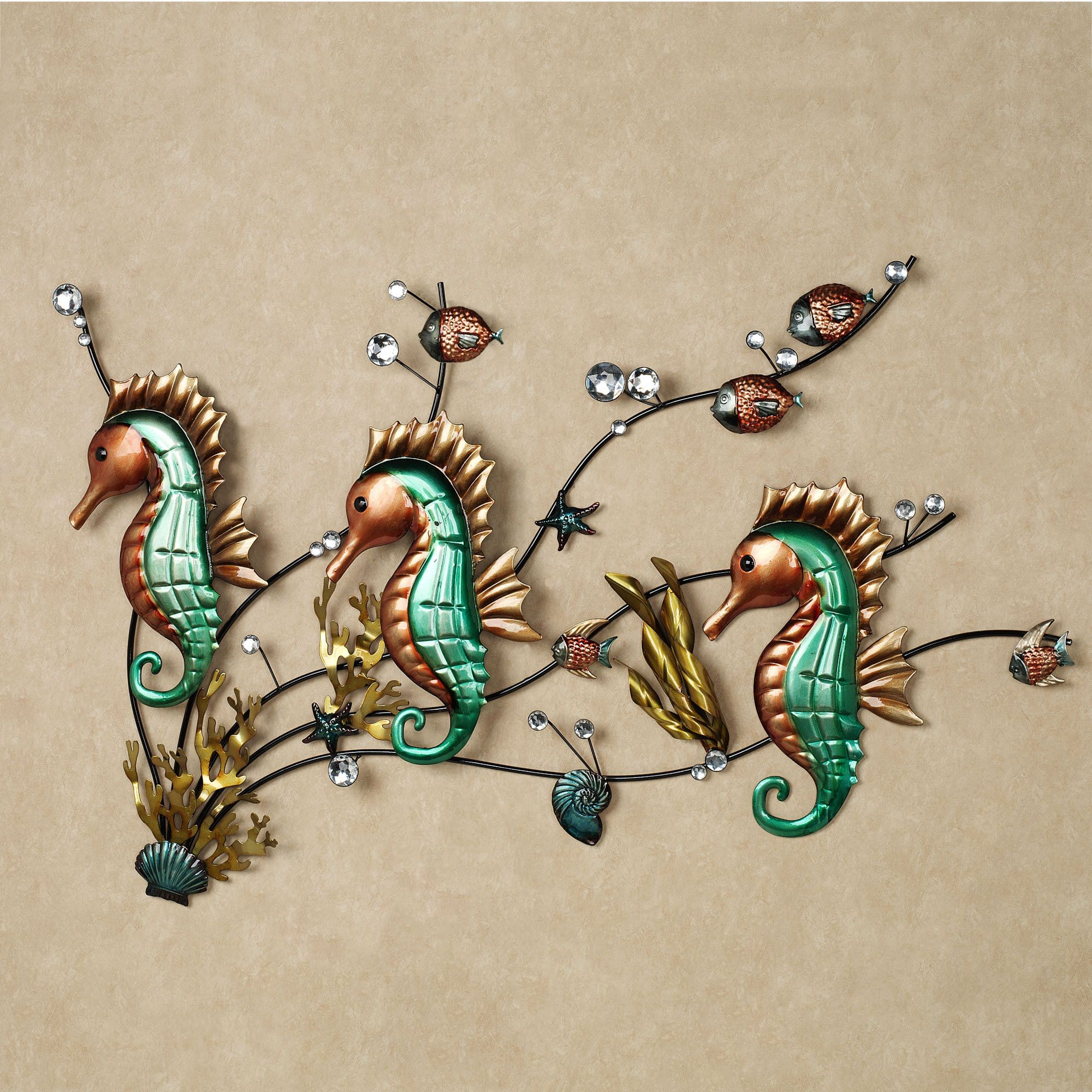 Seahorse Wall Art floral jubilee empire valance light cream 110 x 28 | sculpture