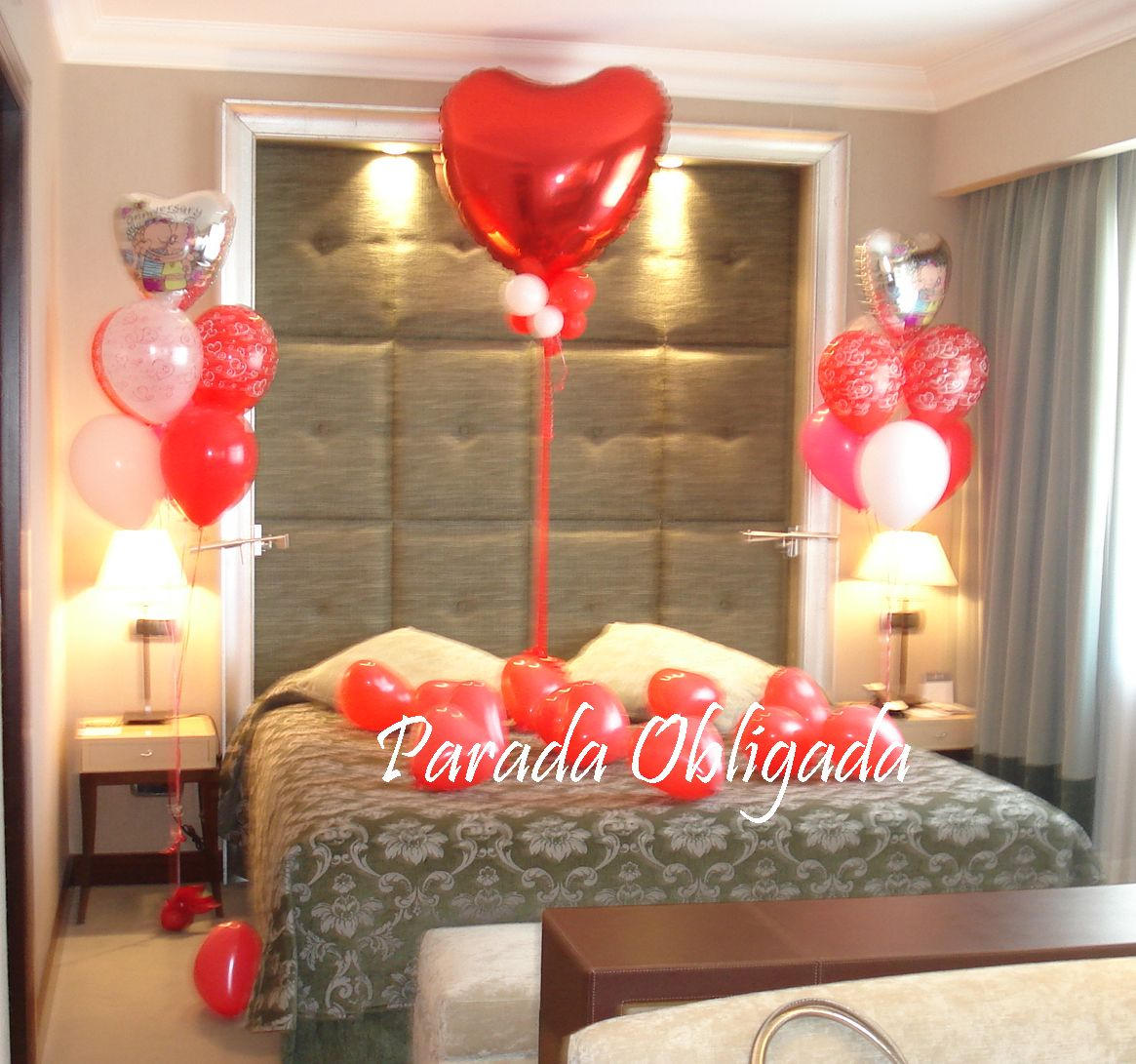 Decoracion habitacion de novios ideas rom nticas for Cuartos decorados romanticos con globos