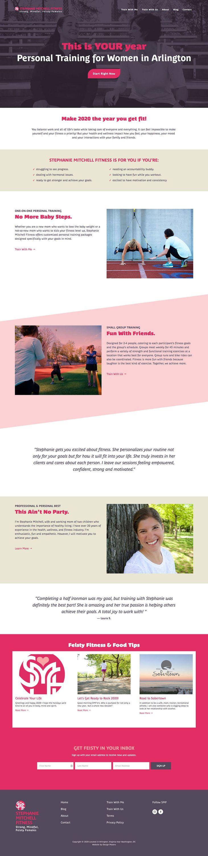 Stephanie Mitchell Fitness Website Design In 2020 Fitness Design Stephanie Mitchell Website Design