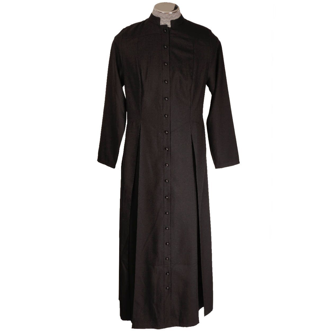 Vintage Roman Catholic Priest Cassock Soutane Black Robe Size M