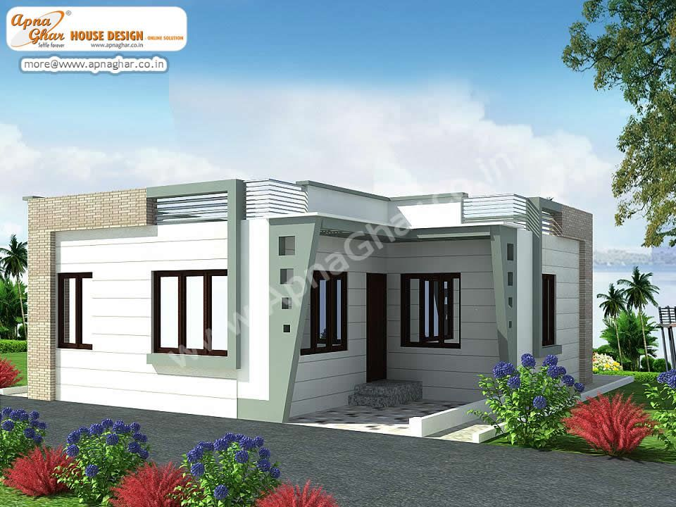 3 bedroom modern simplex 1 floor house design area for One floor modern house