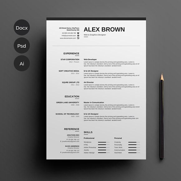 resume  cv by designsbird on  graphicsauthor