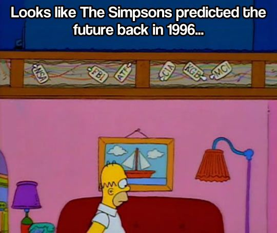 The Simpsons Predicted The Future The Simpsons Funny Pictures Simpson