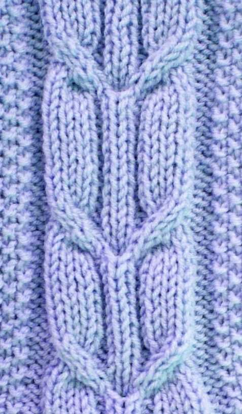 Crossed Arrow Cable Stitch Pattern Free Knitting Stitches In 2018