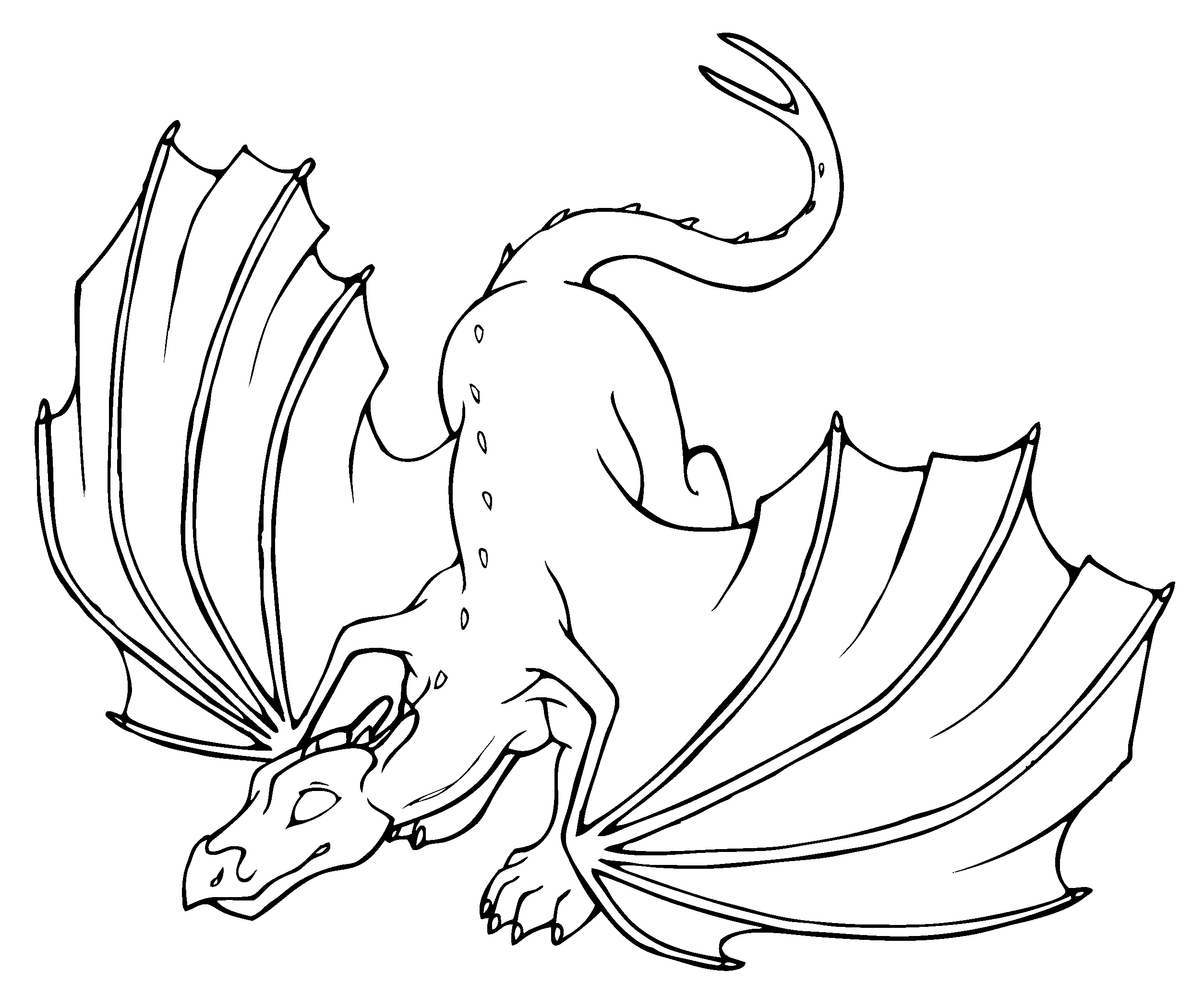 dragon_vector4.png (2508×2076) | Lineart: Dragons | Pinterest ...