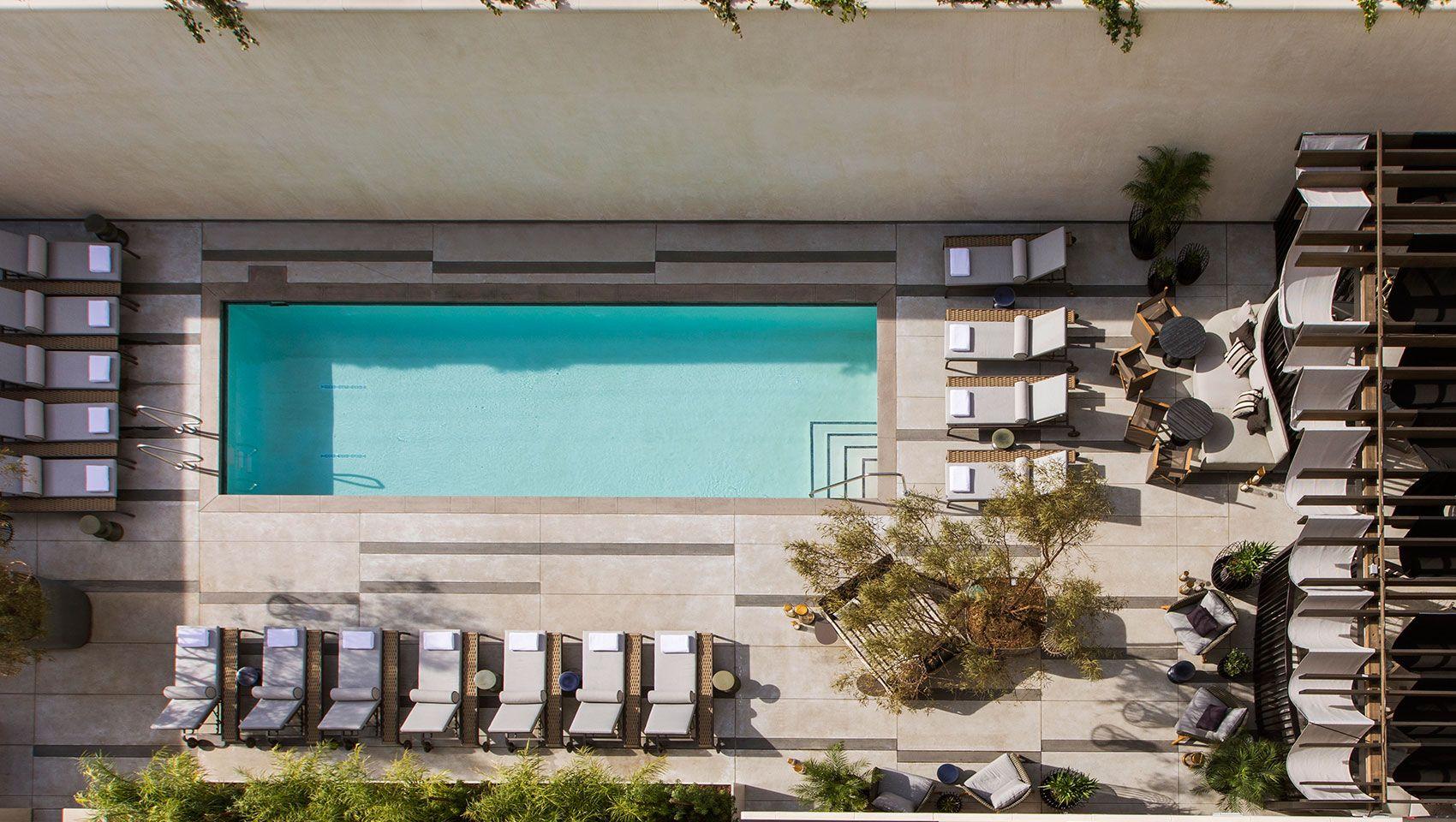 kimpton los angeles la peer hotel pool Hotel, Courtyard