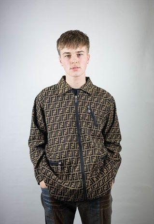 Fendi Zucca Monogram Jacket Monogram Jacket Jackets Mens Jackets