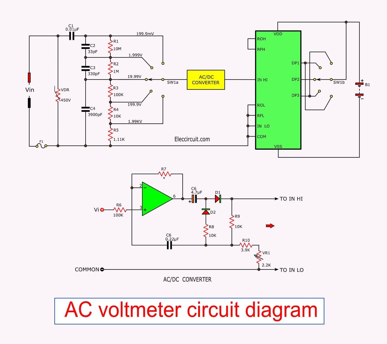 Digital Multimeter Circuit Using Icl7107 In 2020 Multimeter Circuit Analog To Digital Converter