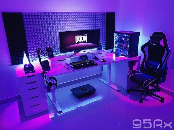 Best Trending Gaming Setup Ideas | Gaming room setup, Room setup, Game room  design