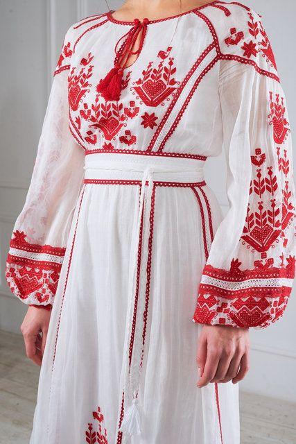aeba209553f4fb Сукня ексклюзивна з вишивкою   Вышивка   Dresses, Fashion dresses и ...