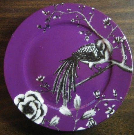 Decorative Dishes - Purple Plum Black White Bird Branch Plate M, $24.99 (http://www.decorativedishes.net/Purple-Plum-Black-White-Bird-Branch-Plate-M/)