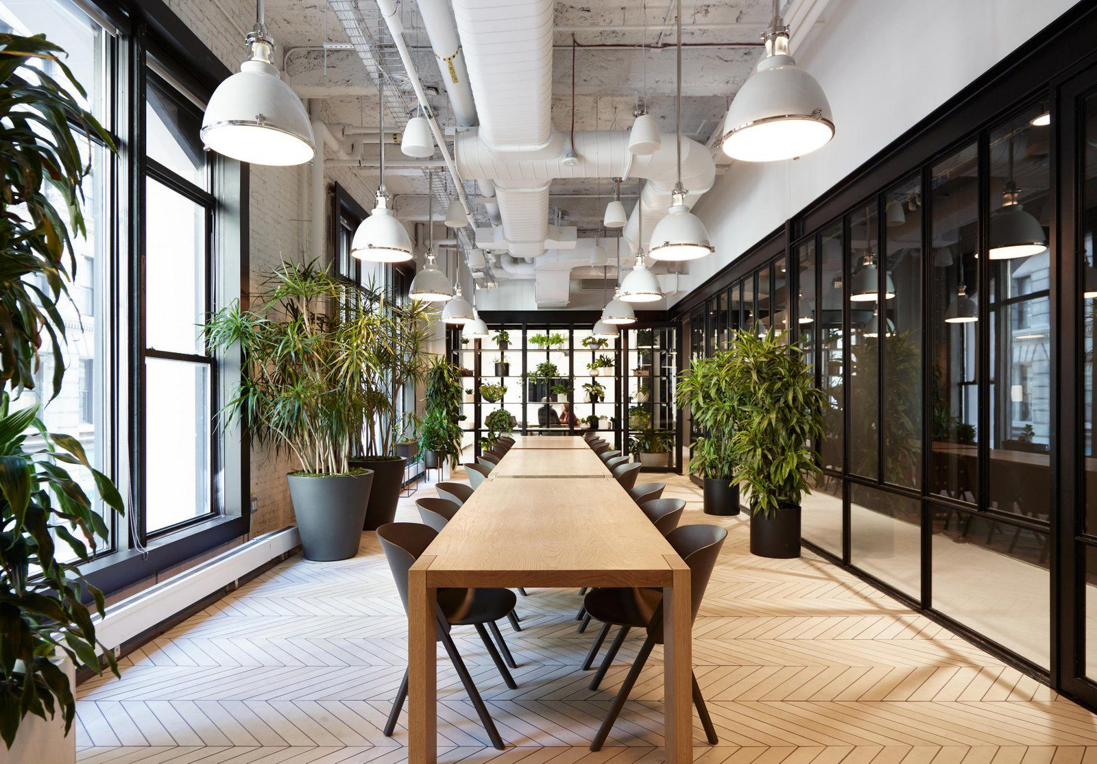 Office tour digital media company headquarters new york city office plants and green walls Interior design firms in new york city