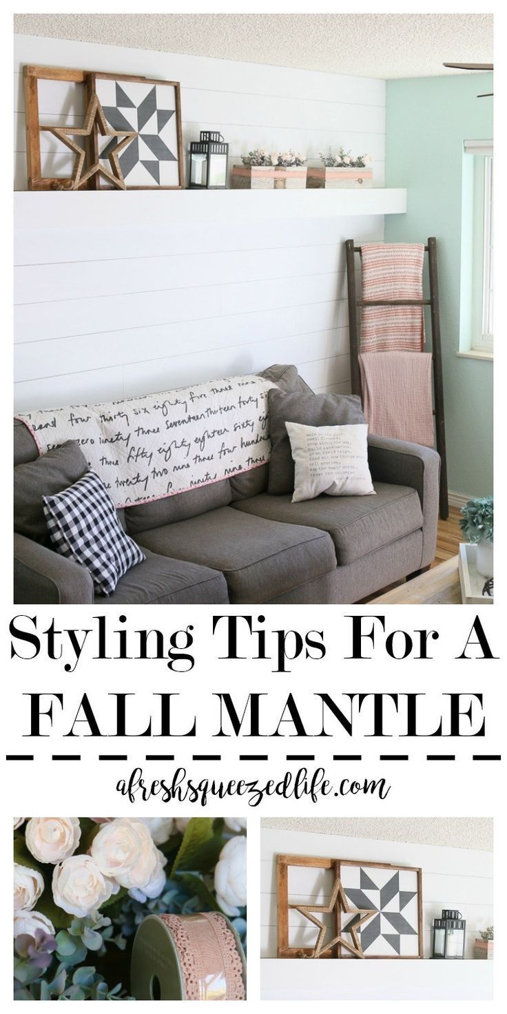 Fall is here and it is time to add some simple farmhouse decorations to the mantle. Check out my ideas for neutral decor with a splash of pink. Fall Mantle A MANTLE ALL DRESSED UP FOR FALL #style #shopping #styles #outfit #pretty #girl #girls #beauty #beautiful #me #cute #stylish #photooftheday #swag #dress #shoes #diy #design #fashion #homedecor