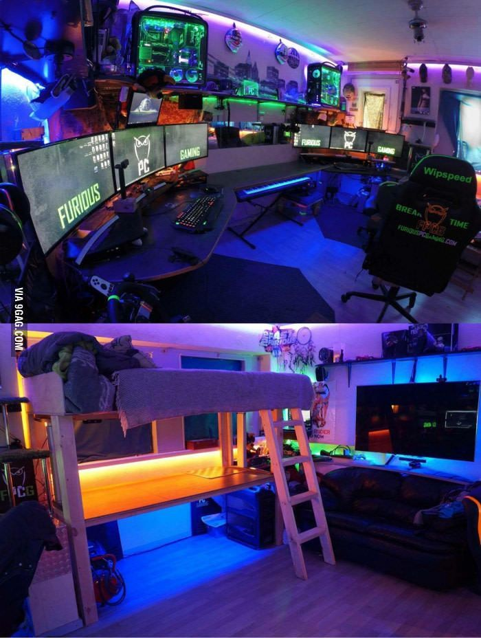 Upgraded the man cave today! #gamingsetup Upgraded the man cave today! #gamingrooms