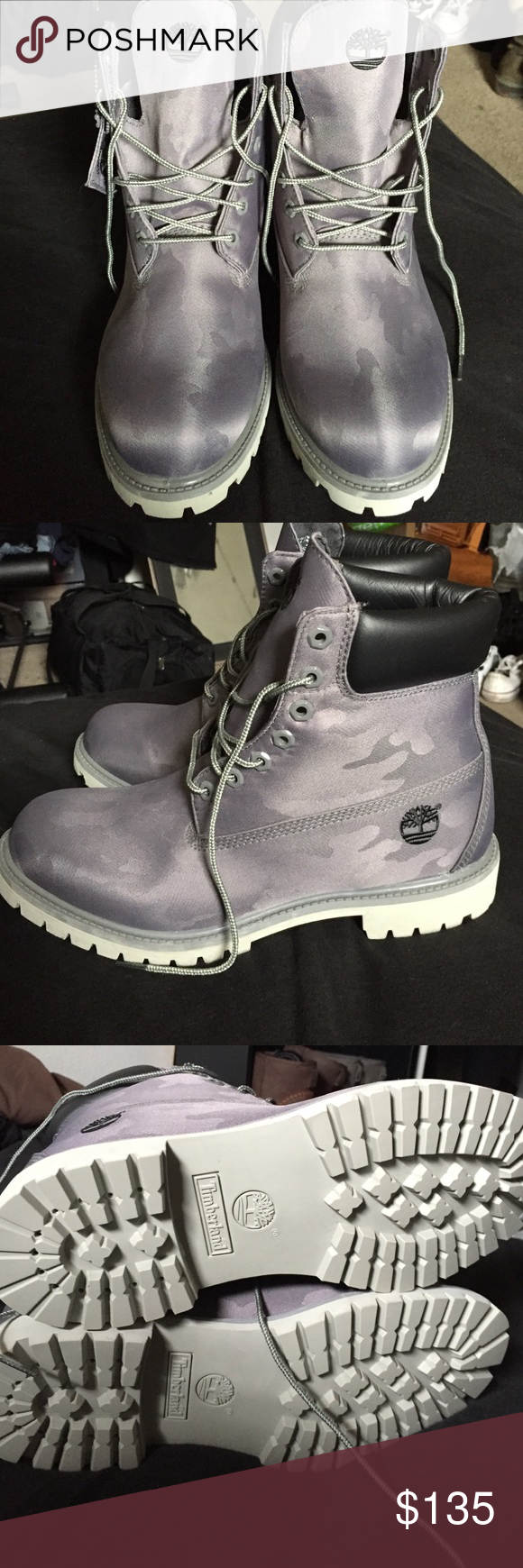 Grey camo Timberland Boots size
