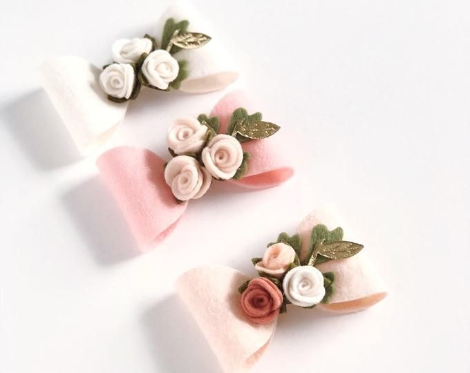 32 Die Cut Baby Pink Unassembled Felt Roses, DIY Felt Flowers, Crafts