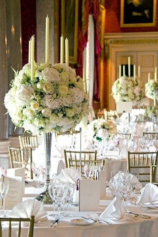 Elegant Blooms; Elegant Wedding Reception Flowers (BridesMagazine ...