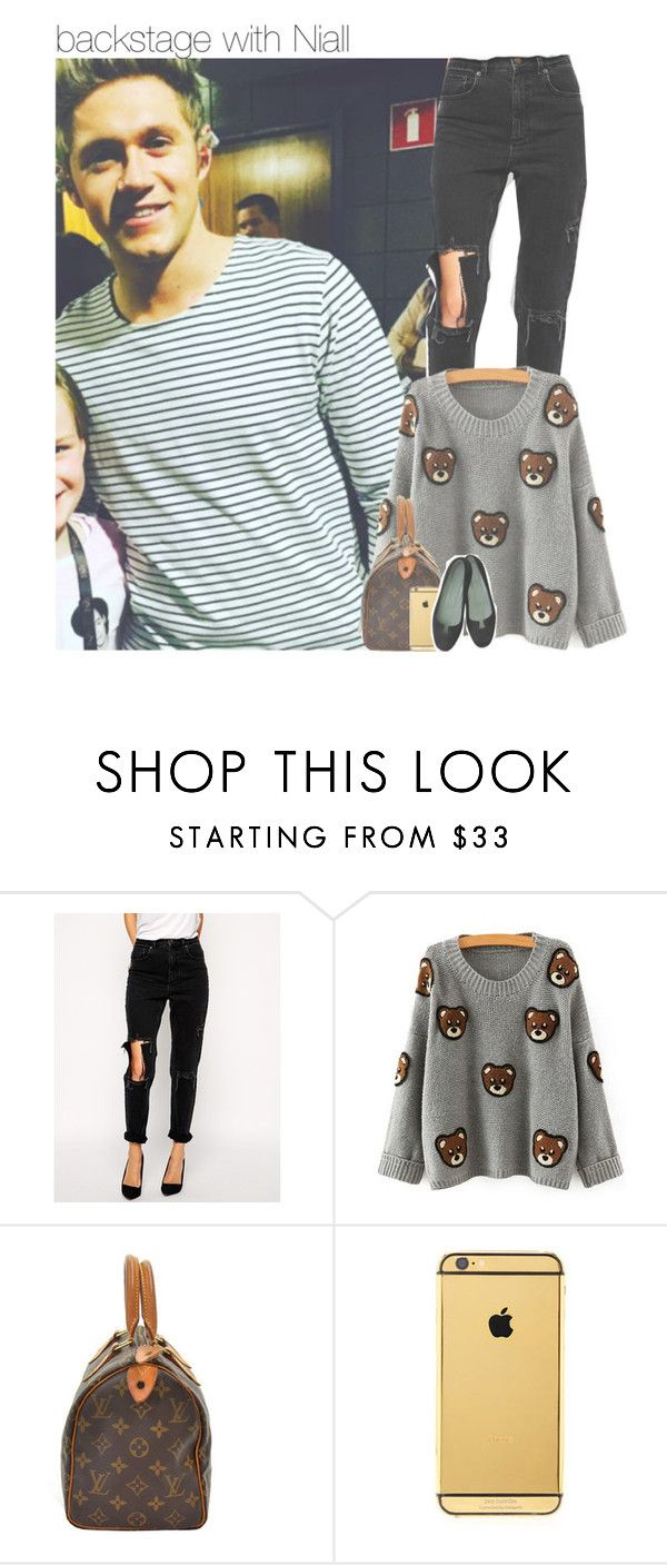 """backstage with Niall"" by dipx1d ❤ liked on Polyvore featuring ASOS and Goldgenie"