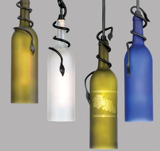 creative green idea for glass bottle shades ♥
