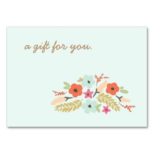 Cute Pastel Flowers Gift Certificate | Pastel flowers, Gift ...