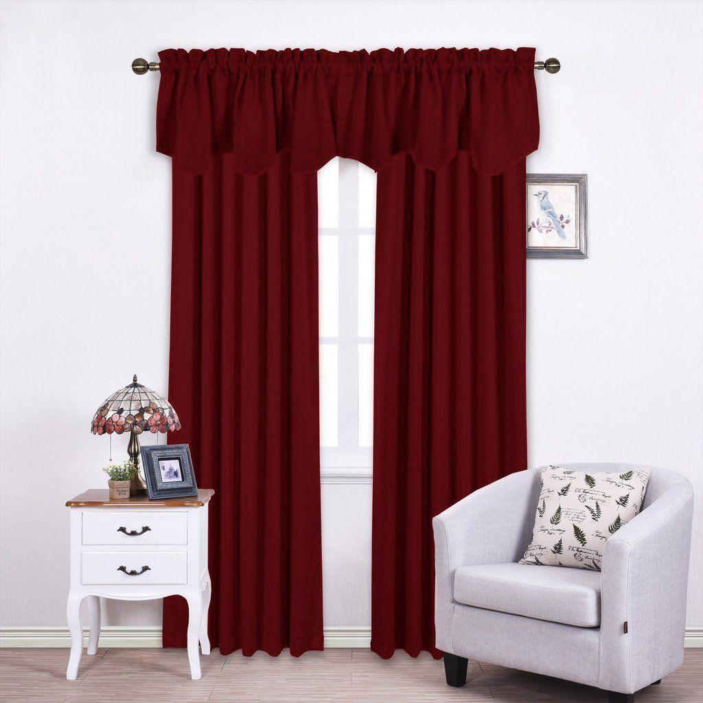 Nicetown Sheer Curtain Panels Basement Living Rooms Valance